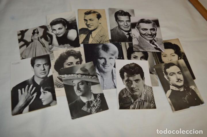 13 POSTALES ANTIGUAS - ACTORES / ACTRICES, ARTISTAS - EN B/N - MIRA FOTOS Y DETELLES (Cine - Fotos y Postales de Actores y Actrices)