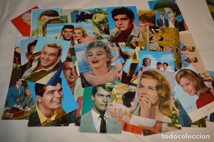 48 POSTALES ANTIGUAS - AÑOS 60 - ACTORES / ACTRICES, ARTISTAS - EN B/N - ¡MIRA FOTOS Y DETELLES! (Cine - Fotos y Postales de Actores y Actrices)