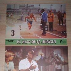 Cine: DOS FOTOCROMOS EL HIJO DE LA JUNGLA. WALT DISNEY PRODUCTIONS. 34 X 24 CM . Lote 199621681