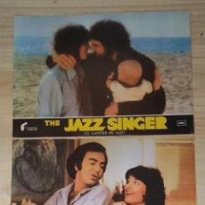 Cine: 2 FOTOCROMOS PAPEL THE JAZZ SINGER.. Lote 199903060