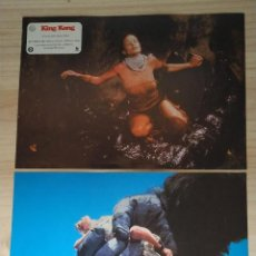 Cine: LOTE DOS FOTOCROMOS PAPEL, KING KONG. . Lote 199903678
