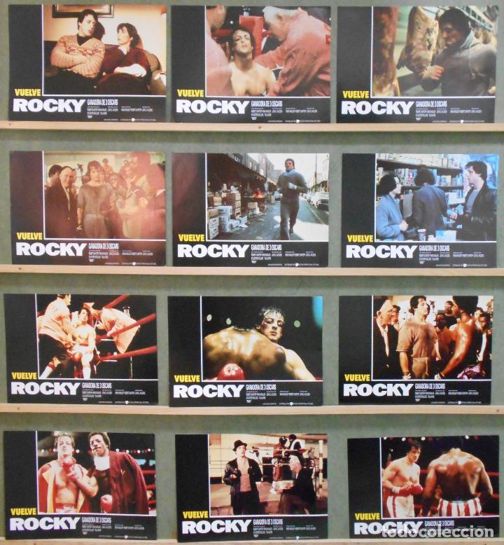SCDO 004 ROCKY SYLVESTER STALLONE BOXEO SET COMPLETO 12 FOTOCROMOS ORIGINAL ESPAÑOL R-86 (Cine - Fotos, Fotocromos y Postales de Películas)
