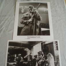 "Cine: 2 FOTOS PROMOCIONAL ORIGINAL DE LA PELICULA "" TERMINATOR"" 1984. ORION B/N 20,2 X 25,2. Lote 203800230"