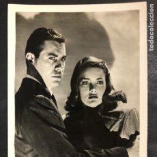 Cinéma: FOTO ORIGINAL JOHN HODIAK Y NANCY GUILD.SOLO EN LA NOCHE 18 X 12 CM. Lote 205292142