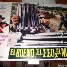 Cine: EL BUENO EL FEO Y EL MALO FOTOCROMO ORIGINAL ESTRENO-LOBBY CARDS-CLINT EASTWOOD S.LEONE-. Lote 205450625