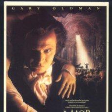 Cine: P-8762- AMOR INMORTAL (IMMORTAL BELOVED) GARY OLDMAN - ISABELLA ROSSELLINI - VALERIA GOLINO. Lote 205533380