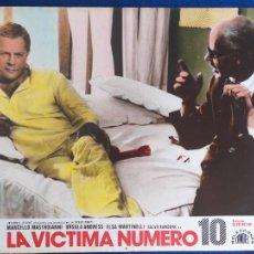 Cine: FOTOCROMO DE CARTÓN. LA VÍCTIMA NÚMERO 10 (ELIO PETRI, 1965) - MARCELLO MASTROIANNI, URSULA ANDRESS. Lote 205552038