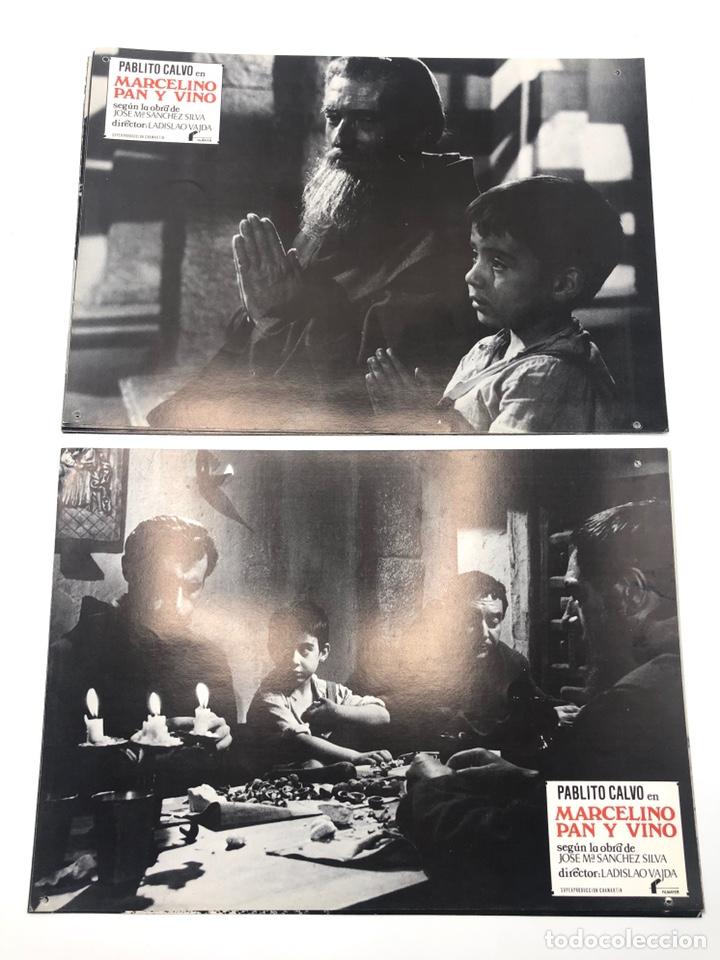Cine: MARCELINO PAN Y VINO 12 FOTOCROMOS LOBBY CARDS SET COMPLETO CINE PABLITO CALVO FLYER PUBLICITARIO. - Foto 2 - 205683485