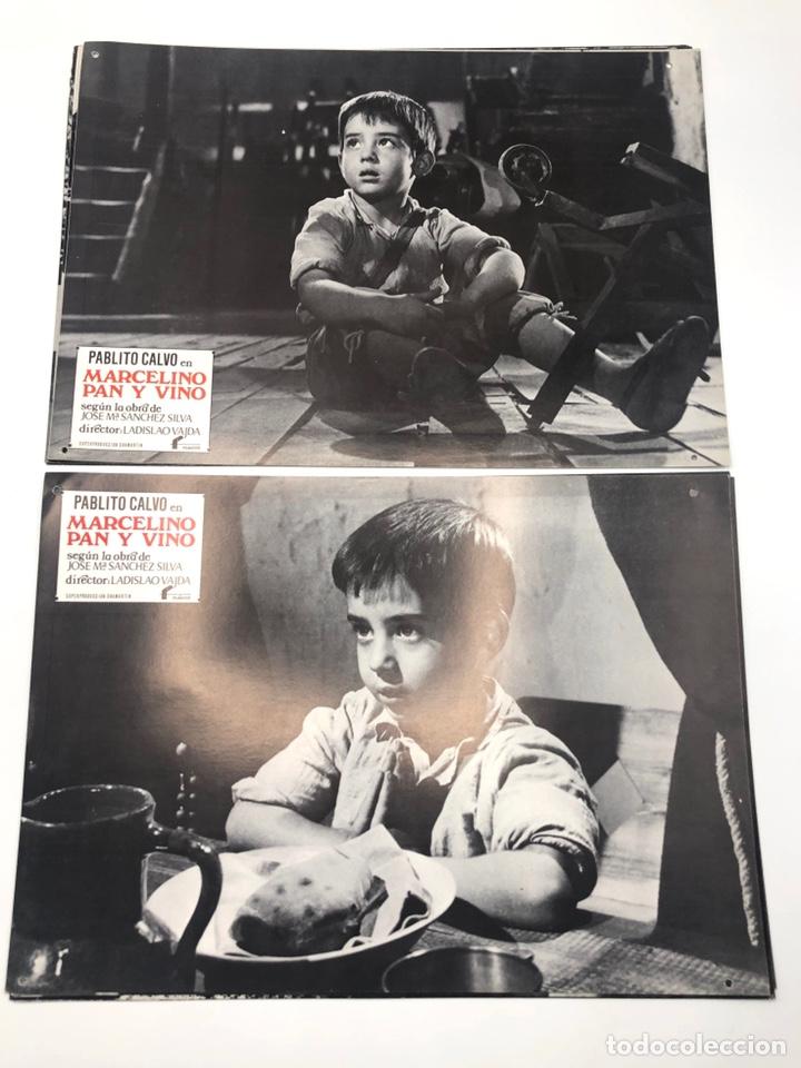 Cine: MARCELINO PAN Y VINO 12 FOTOCROMOS LOBBY CARDS SET COMPLETO CINE PABLITO CALVO FLYER PUBLICITARIO. - Foto 3 - 205683485
