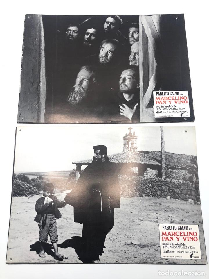 Cine: MARCELINO PAN Y VINO 12 FOTOCROMOS LOBBY CARDS SET COMPLETO CINE PABLITO CALVO FLYER PUBLICITARIO. - Foto 4 - 205683485