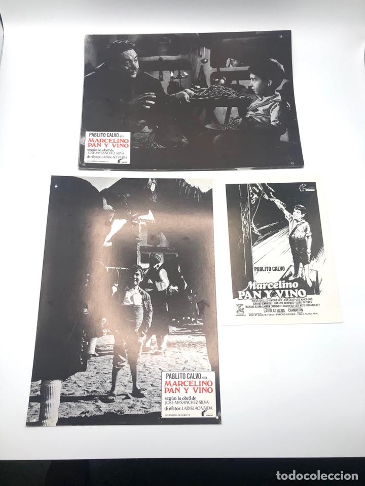 Cine: MARCELINO PAN Y VINO 12 FOTOCROMOS LOBBY CARDS SET COMPLETO CINE PABLITO CALVO FLYER PUBLICITARIO. - Foto 5 - 205683485