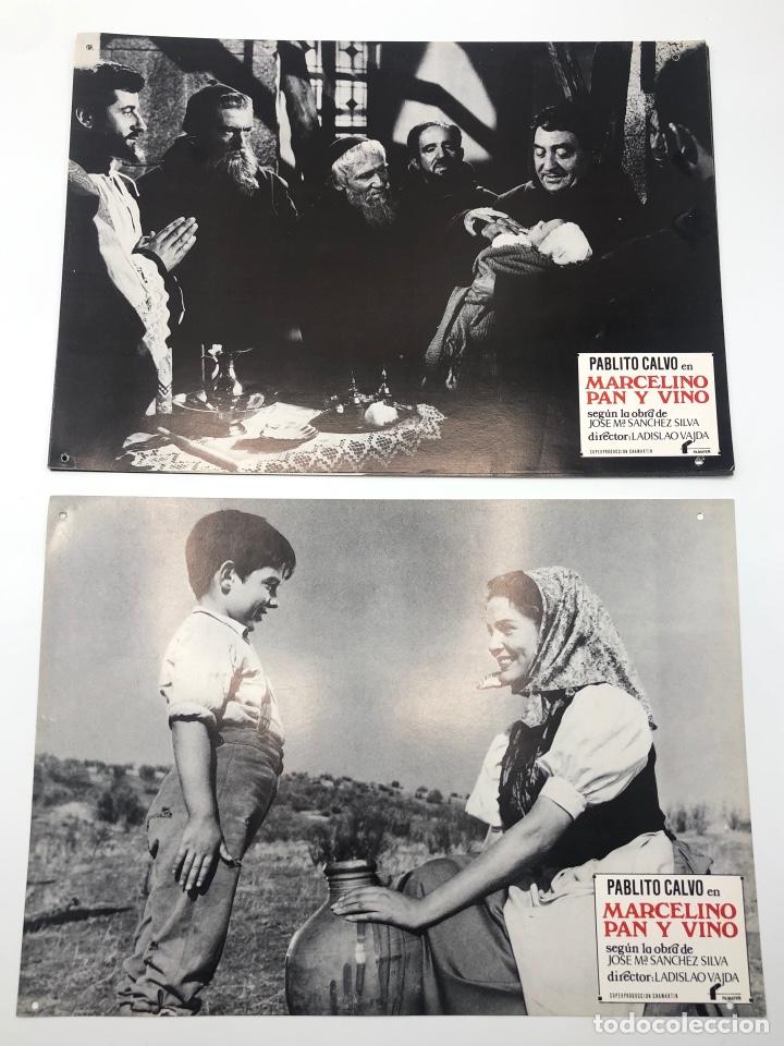 MARCELINO PAN Y VINO 12 FOTOCROMOS LOBBY CARDS SET COMPLETO CINE PABLITO CALVO FLYER PUBLICITARIO. (Cine - Fotos, Fotocromos y Postales de Películas)