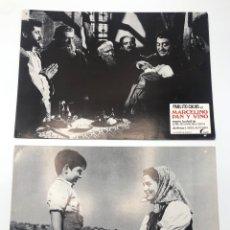 Cine: MARCELINO PAN Y VINO 12 FOTOCROMOS LOBBY CARDS SET COMPLETO CINE PABLITO CALVO FLYER PUBLICITARIO.. Lote 205683485