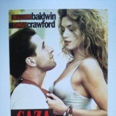 Cine: POSTAL PROMOCIONAL PELÍCULA CAZA LEGAL - CINDY CRAWFORD. Lote 205864766