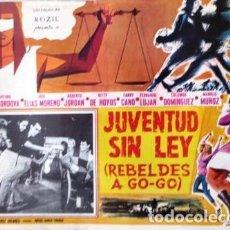 Cine: VINTAGE LOBBY CARD DE LA PELÍCULA JUVENTUD SIN LEY AÑOS 60S. Lote 205866135