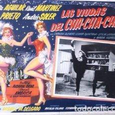 Cine: VINTAGE LOBBY CARD DE LA PELICULA LAS VIUDAS DEL CHA CHA CHA AÑOS 40S. Lote 205868016