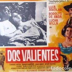 Cine: VINTAGE LOBBY CARD DE LA PELÍCULA DOS VALIENTES AÑOS 50S. Lote 205868176