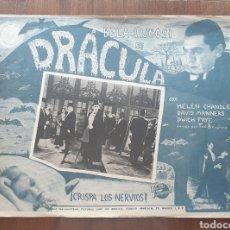 Cine: FOTOCROMO LOBBY CARD DRACULA - BELA LUGOSI CINE DE TERROR. Lote 206132616