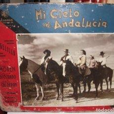 Cine: 8 FOTOCROMOS FOTOGRAFICOS DE 1942 MI CIELO DE ANDALUCIA CON ANGELILLO TRINI MORENO FLAMENCO CINE. Lote 208225411