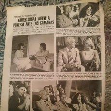 Cine: REPORTAJE - NUNCA EN HORAS DE CLASE CON INMA DE SANTIS - XAVIER CUGAT - CARLOS BALLESTEROS - 1978. Lote 209300068