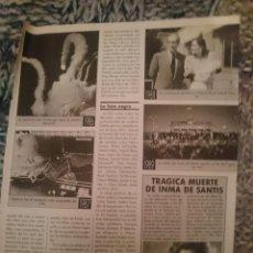 Cine: RECORTE DE PRENSA CLAN TV - TRAGICA MUERTE DE INMA DE SANTIS. Lote 209300078