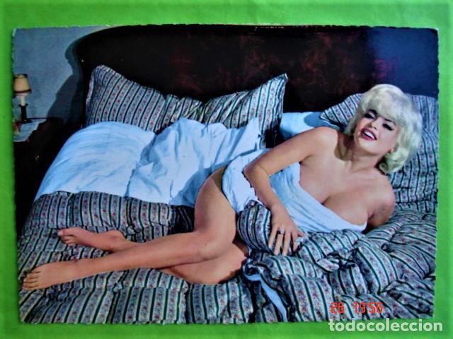 POSTAL DENTADA NO CIRCULADA DE JAYNE MANSFIELD. FHOTO BERNARD OF HOLLYWOOD. KRUGER 900/78 (Cine - Fotos y Postales de Actores y Actrices)