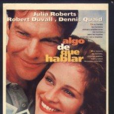 Cine: P-8814- ALGO DE QUE HABLAR (SOMETHING TO TALK ABOUT) JULIA ROBERTS - DENNIS QUAID - ROBERT DUVALL. Lote 212009891