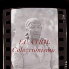 Cine: RODAJE DE LA SERIE LA BARRACA, 5 CLICHES NEGATIVOS 35 MM EN CELULOIDE AÑO 1979. Lote 212055870