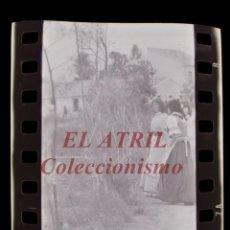 Cine: RODAJE DE LA SERIE LA BARRACA, 4 CLICHES NEGATIVOS 35 MM EN CELULOIDE AÑO 1979. Lote 212056098