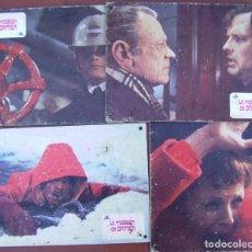 Cine: LOTE DE 4 FOTOCROMOS DE CARTON DURO DE LA MALDICION DE DAMIEN. Lote 212279438