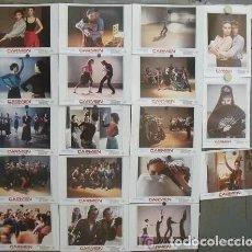 Cine: SCDO 088 CARMEN CARLOS SAURA ANTONIO GADES SET COMPLETO 18 FOTOCROMOS ORIGINAL ESTRENO. Lote 212431452