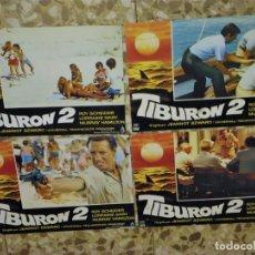 Cine: TIBURON 2 / JAWS 2 - 4 FOTOCROMOS - LOBBY CARDS ORIGINALES DEL ESTRENO. Lote 212733623