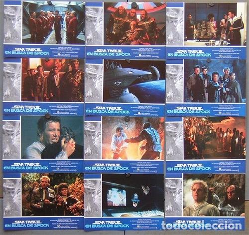 SCDO 098 STAR TREK 3 EN BUSCA DE SPOCK SHATNER NIMOY SET COMPLETO 12 FOTOCROMOS ORIGINAL ESTRENO (Cine - Fotos, Fotocromos y Postales de Películas)