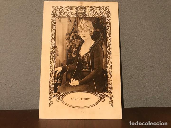 ACTRIZ ALICE TERRY CROMO CHOCOLATE E. JUNCOSA SERIE H, NUMERO 1 AÑOS 20 (Cine - Fotos, Fotocromos y Postales de Películas)