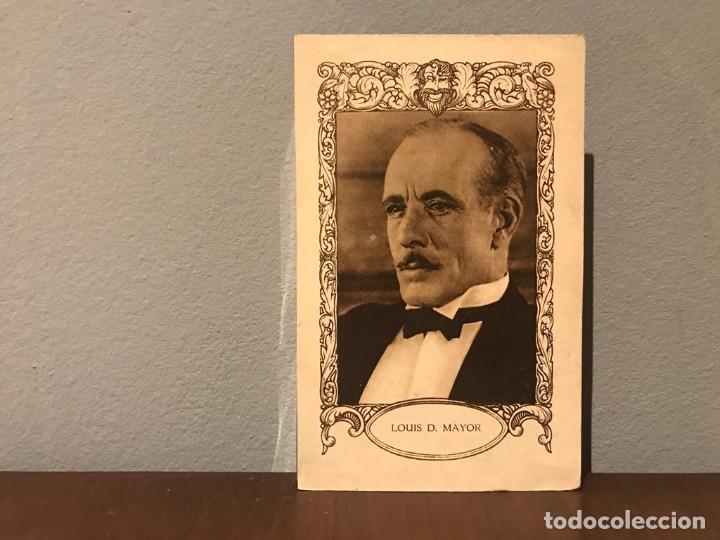 ACTOR LOUIS D. MAYOR CROMO CHOCOLATE E.JUNCOSA SERIE H NUMERO 7 AÑOS 20 (Cine - Fotos, Fotocromos y Postales de Películas)