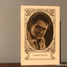 Cine: ACTOR J.WARREN KERRIGAN CROMO CHOCOLATE E.JUNCOSA SERIE J NUMERO 6 AÑOS 20. Lote 213987136