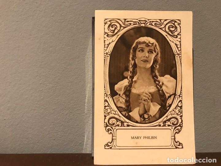 ACTRIZ MARY PHILBIN CROMO CHOCOLATE E.JUNCOSA SERIE J NUMERO 11 AÑOS 20 (Cine - Fotos, Fotocromos y Postales de Películas)
