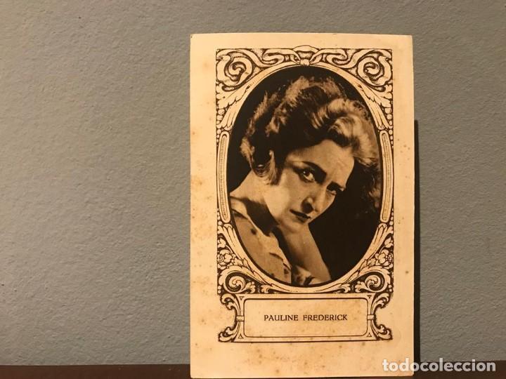 ACTRIZ PAULINE FREDERICK CROMO CHOCOLATE E.JUNCOSA SERIE J NUMERO 16 AÑOS 20 (Cine - Fotos, Fotocromos y Postales de Películas)