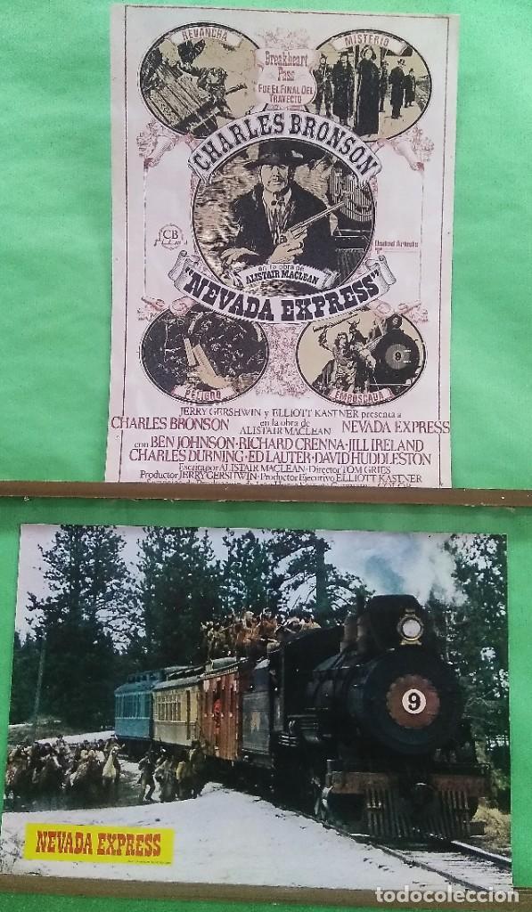 FOTOCROMO CINE - NEVADA EXPRESS - CHARLES BRONSON - LOTE DE 2 -IDEAL PARA ENMARCAR - F4 (Cine - Fotos, Fotocromos y Postales de Películas)