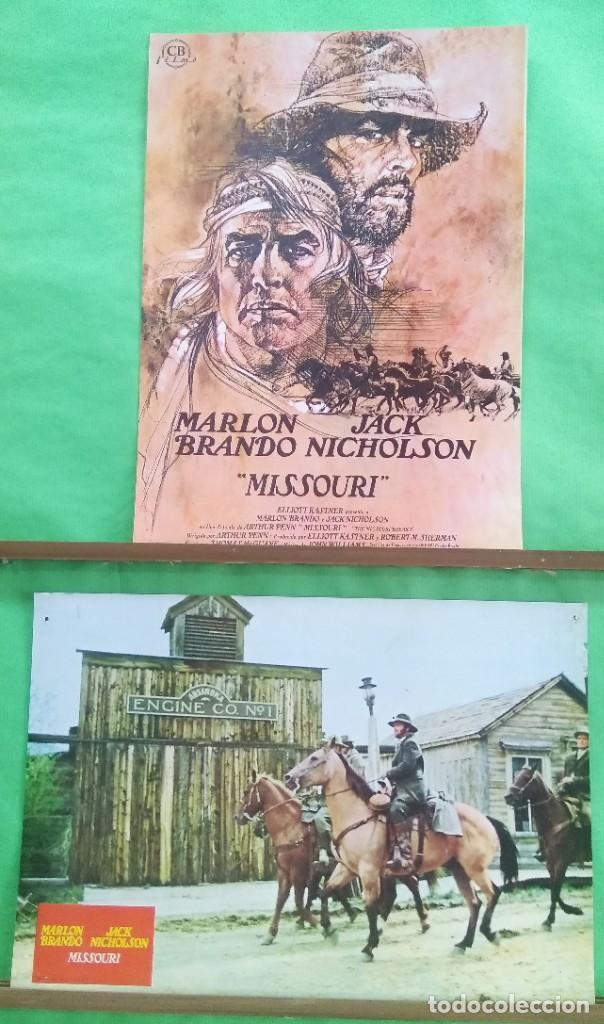 FOTOCROMO CINE - MISSOURI - MARLON BRANDON-JACK NICHOLSON - LOTE DE 2 -IDEAL PARA ENMARCAR - F4 (Cine - Fotos, Fotocromos y Postales de Películas)