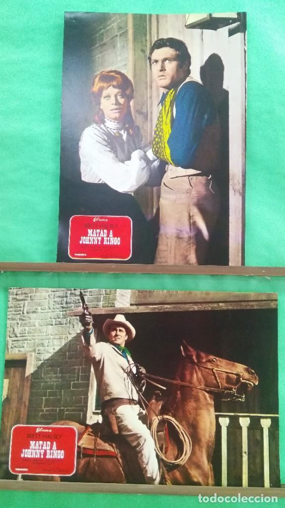 FOTOCROMO CINE - MATAD A JOHNNY RINGO - BRETT HALSEY - LOTE DE 2 - F4 (Cine - Fotos, Fotocromos y Postales de Películas)