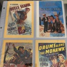 Cine: 4 POSTALES PELÍCULAS CLÁSICOS WESTERN. Lote 216381938