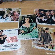 Cine: LO QUE EL VIENTO SE LLEVÓ - 5 FOTOCROMOS 1971 - CLARK GABLE, OLIVIA DE HAVILLAND Y VIVIEN LEIGH. Lote 216472612
