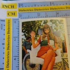 Cinema: CROMO MINI POSTAL SUPERPOPULARES DE LA CANCIÓN CINE Y LA TV AÑO 1972 78 MARISA GUSTAVSON UN DOS TRES. Lote 217292738