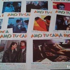 Cine: AMO TU CAMA RICA -12 FOTOCROMOS COMPLETO AFICHES - MARTÍNEZ LÁZARO - CINE ESPAÑOL. Lote 218224015