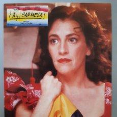"""Cine: FOTOCROMO DE LA PELICULA"""" AY , CARMELA """" CON CARMEN MAURA AÑOS 90 .. Lote 218227458"""
