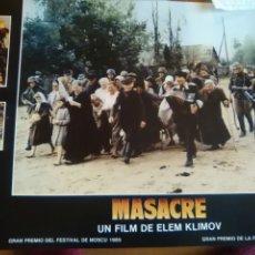 Cine: MASACRE SET DE 8 FOTOCROMOS ESTRENO-ORIGINAL-ELEM KLIMOV--LOBBY CARDS-. Lote 218596993