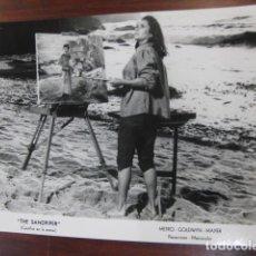 Cine: CASTILLOS DE ARENA - FOTO ORIGINAL B/N - THE SANDPIPER ELIZABETH TAYLOR. Lote 218689671