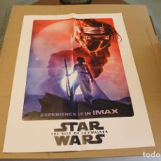 Cine: CARTEL O POSTER DOBLE, PELICULA STAR WARS THE RISE OF SKYWALKER Y LA SERIE THE MAGICIANS 57 X 41 CM. Lote 218785340