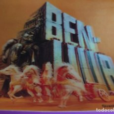 Cine: BEN-HUR POSTAL LENTICULAR 3-D JAPONESA REEDITADA 1969. Lote 219102641